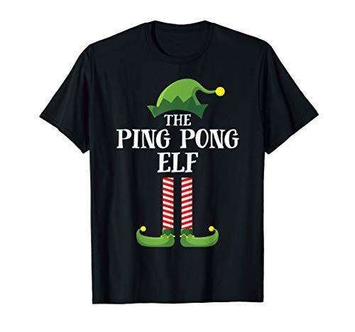 Ping Pong Elf Matching Family Group Christmas Party Pajama Camiseta