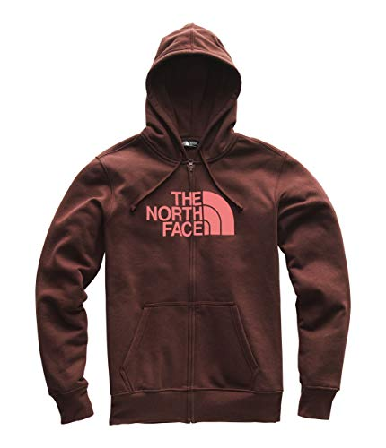 The North Face Men's Half Dome Full Zip Hoodie - Sequoia Red & Faded Rose - L