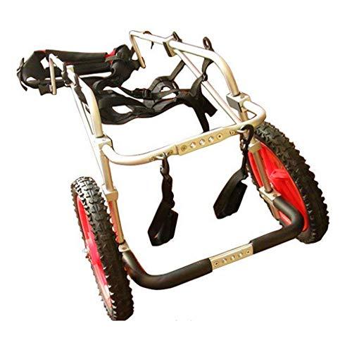 HWhome Soporte Auxiliar Grande Silla De Ruedas Paralizada Perro Discapacitado Aleación De Aluminio Ultra Ligero Implementación Común Fácil De Usar Ajustable, Scooter para Mascotas(6 Tamaños)(S