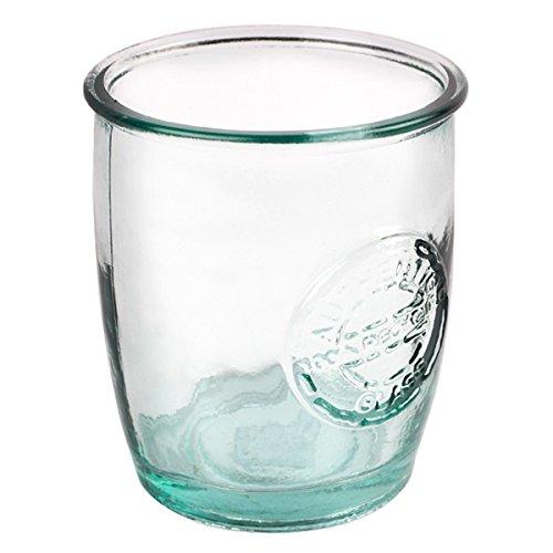 Bicchieri in autentico vetro riciclato, da highball, 450 mL, confezione da 6, in vetro verde