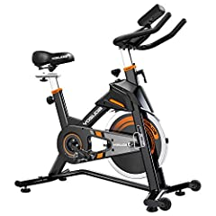 ✅【2020 UPDATED STATIONARY BIKE】The current version adopts thickened frame tube, overcomes the unsteady defects of most of spin bikes in the market. Solid build, weight capacity 330LBS, give you a safe riding. ✅【SMOOTH & QUIET EXERCISE BIKE】With 40LBS...