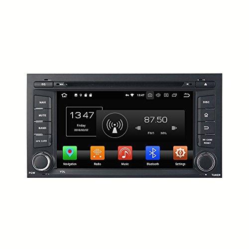 Kunfine Android 9.0 Octa Core DVD de Voiture Navigation GPS Lecteur multimédia stéréo de Voiture pour Seat Leon 2014 Autoradio Commande au Volant avec 3 G WiFi Bluetooth Carte SD Gratuit 17,8 cm