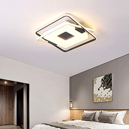 BFMBCHDJ Deckenleuchten für Wohnzimmer Schlafzimmer Lamparas De Techo Lustre Avize Runde quadratische Deckenleuchte für Kinderzimmer Warmweiß Dia46x8cm 36W