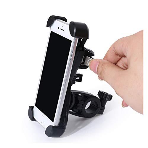 linger Soporte De Agarre del Soporte De La Barra Montaje De La Barra Montaje De La Manija De La Motocicleta con El Cargador USB De 12-80 V Ajuste para iPhone XS, XS-MAX, Galaxy S9, Etc.