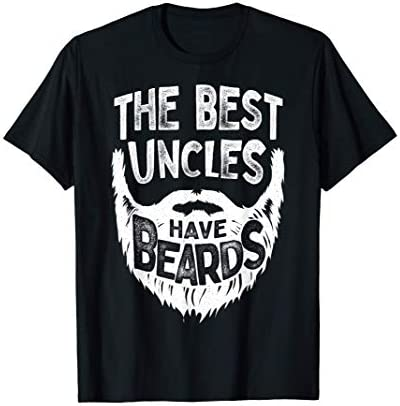 The Best Uncles Have Beards Bearded Men Father s Day Gift T Shirt product image