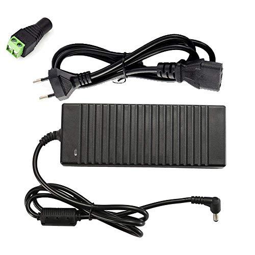 LED Netzteil Trafo Netzadapter für LED 12V DC, AC 100-240V Transformatoren, für 3528/5050 LED Streifen 120W Maximal Stromversorgung 12V 10A Europäischer Stecker [Energieklasse A+]