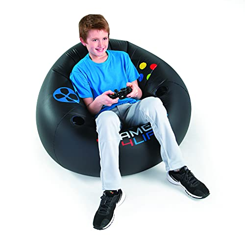 Inflatable Video Gaming Chair for Kids, Teens Cool Game Chair,Xbox Chair, Perfect for Game Rooms,Video Games or Relaxing, Family Movie Nights,Dorms, Parties,