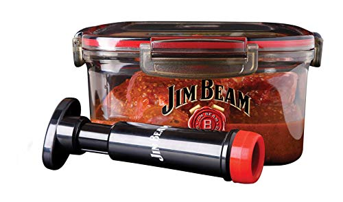 Jim Beam Vacuum Sealed Pump, Removes air from The Marinade Box, Speedy...