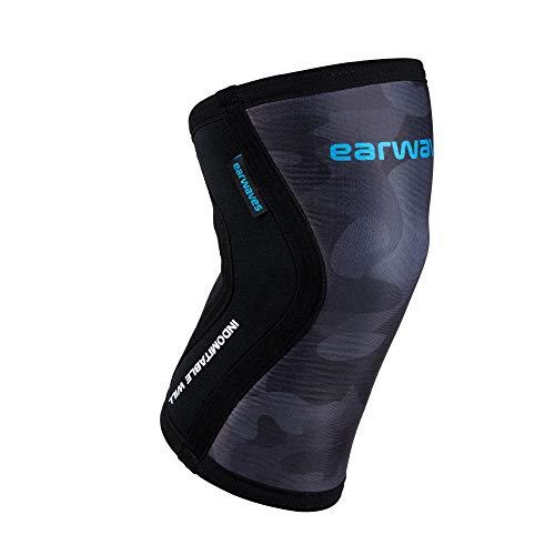 Earwaves ® Shield Knee Sleeve - 5mm & 7mm Neopren Kniebandage. Knieschoner für Crossfit, Gewichtheben, Weightlifting, Squats, Lunges. (1 Stück)