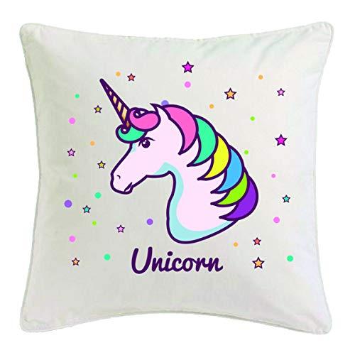 Reifen-Markt Funda de cojín de 40 x 40 cm, diseño de unicornio, criaturas míticas, caballo, cabra, emoji, Licorne, Unicornio, Mythos, cuerno medieval, de microfibra, 302866