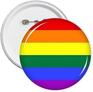 DIYthinker LGBT Rainbow Gay Lesbian Transgenre Gays Support Drapeau Illustration Broches Rondes Badge Button Vêtements Déc...