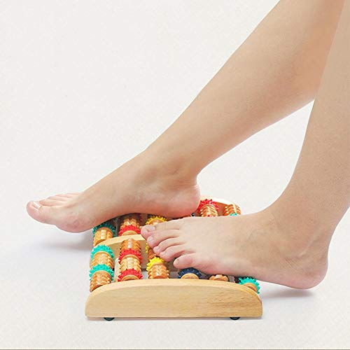 Vrunda Solid Wood Roller Legs Wooden Massager Acupuncture Massager Points Rubbed Wooden 5 Roller Foot Massager