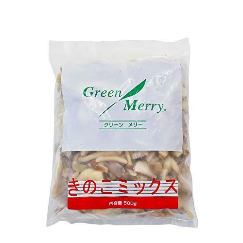 冷凍食品 きのこミックス グリーンメリー 500g__カット済み マッシュルーム しめじ ひらたけ