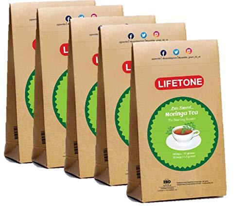 Té orgánico de la hoja de Moringa sin cafeína 100 bolsitas de té | Moringa Tea Morning Booster | Té de desintoxicación