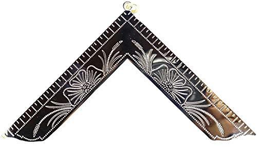 DEURA Masonic Collar Jewel Worshipful Master Silver Plated Freemason Mason 4'