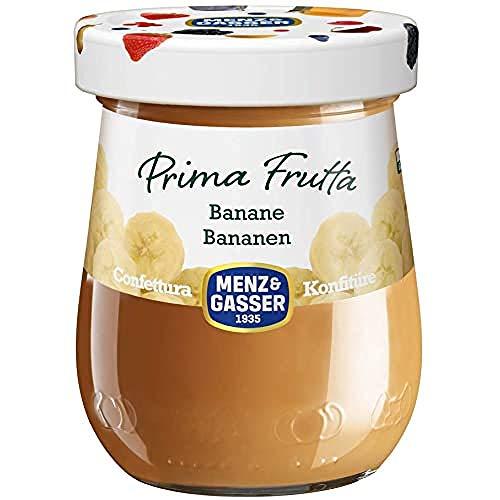 Menz&Gasser Confettura Extra di Banana Prima Frutta - Confettura con Frutta di Alta Qualità, 1 Vaso x 340 g