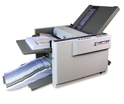 Hefter Systemform TF MEGA-A Falzmaschine mit automatischer Falztascheneinstellung, Format A6 bis A3, 7 Falzarten, kreuzfalz, licht-/dunkelgrau