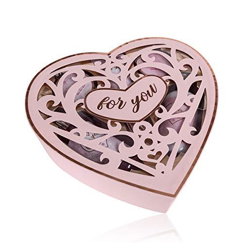 Accentra Beauty Geschenkset Hearts, Bade- & Dusch-Set für Frauen, Mamas und Damen in Herzbox