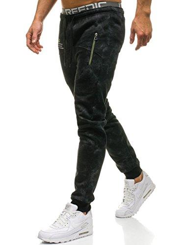 Spedizione gratuita da 70€ Pantaloni tipo jogger con motivo di moda; Regolabili a vita con un elastico e con il coulisse Sovraimpunture di moda e due tasche con zip sulla parte anteriore: Stampa accanto la tasca destra Una tasca di dietro; Le gambe r...