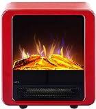 XIAODONGDONG Elektro-Kamin Heizung mit 3D-Flammeneffekt, Mini Tabletop Kamin Heizung für den Innenbereich, justierbare Flamme Helligkeit, Überhitzungsschutz