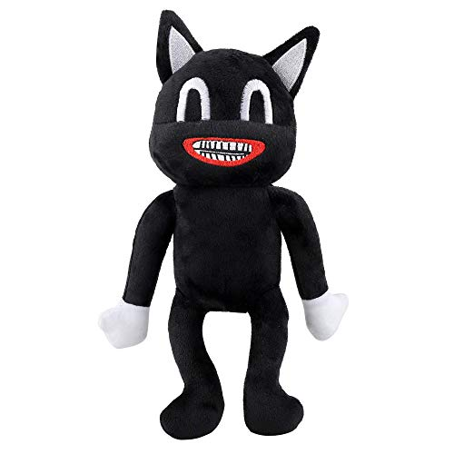 Cartoon Cat Plüschtier, Schwarz Cartoon Cat Plushie Figur Spielzeug Gefüllte Puppe Sofa Stuhl Dekoratives Kissen Kreatives Spielzeug Geschenke für Kinder