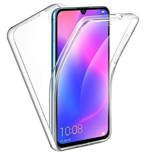 HUANGTAOLI Cover per Huawei P30, Custodia Crystal Case TPU PC Protezione 360° Fronte Retro Full Body (ELE-L09, ELE-L29, 6.1')