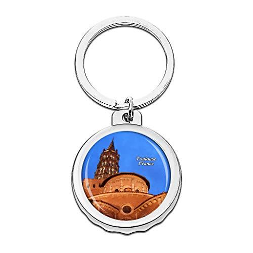 Hqiyaols Keychain Francia Basílica de San Sernin Toulouse...