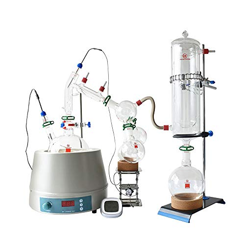 Short Path Distillation 2L, Factory Stocks Available Sale 2L Short Path with Cold Trap and 110V Stirring Heating Mantle