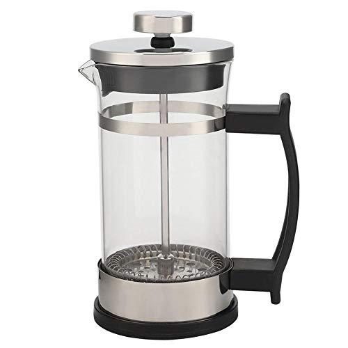 Zerone Cafetera, Cafetera de vidrio de acero inoxidable Olla de filtro de prensa francesa Cafetera doméstica