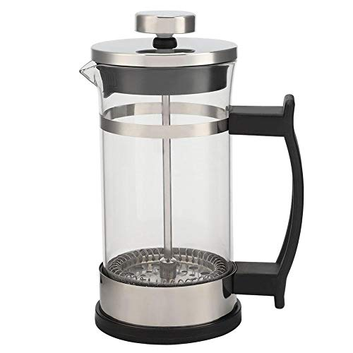 Quality Small French Press Coffee & Tea Maker With Filter, Double 304 Stainless Steel Stand & Heat Resistant Borosilicate Glass, BEST Household Coffee Pot