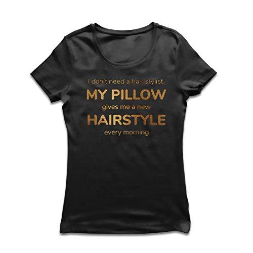lepni.me Camiseta Mujer No Necesita un Peluquero Cotización Graciosa (XX-Large Negro Multicolor)