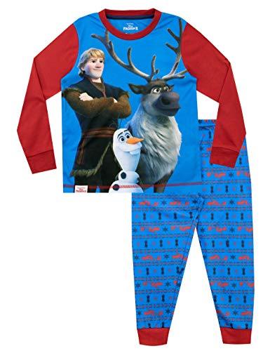 Frozen Pijamas de Manga Larga para niños El Reino del Hielo Azul 5-6 Años