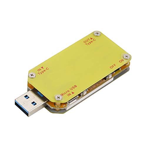 Medidor de corriente, multímetro USB Probador de voltaje de potencia con 1 medidor de probador UM 1 caja para APP Probador de pantalla a color USB 3.0 para el hogar(UM34C)
