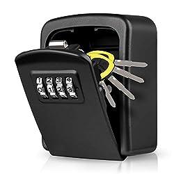 🏠【Coffre à Clé de haute sécurité】La boîte à clé avec code est construite avec un alliage d'aluminium et de zinc de haute qualité, résistant à la rouille et à la corrosion, selon les normes de qualité les plus élevées et suffisamment solide pour résis...
