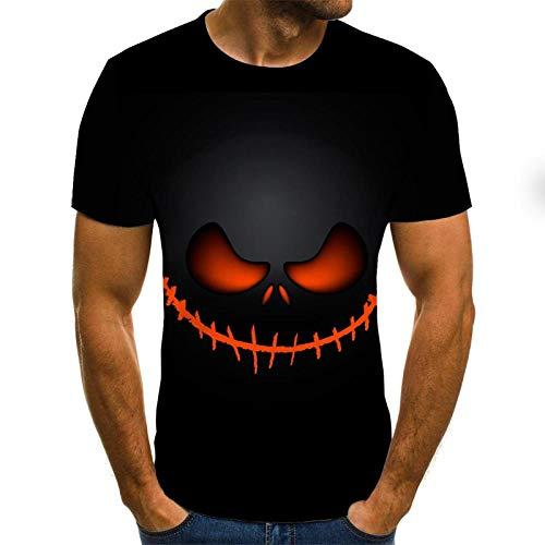 EROOXX T-Shirt con Stampa 3D Funny Face, Manica Corta Casual Estiva Stampata 3D, Nuova T-Shirt Manica Corta, Manica Corta Casual Personalizzata-L