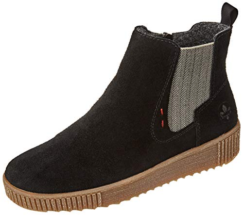 Rieker Damen Stiefeletten Y6473, Frauen Chelsea Boots,Schlupfstiefel,weiblich,Lady,Ladies,Women's,Stiefel,halbstiefel,schwarz (00),41 EU / 7.5 EU