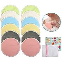 Ballery Almohadillas de Lactancia, 12 Piezas Discos de Lactancia Lavables de Bambú, con Bolsa para Lavandería y Bolsa de Viaje
