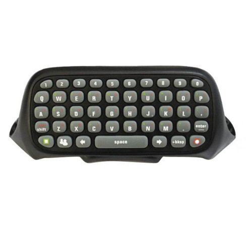 OSTENT Teclado Chatpad Compatible con Microsoft Xbox 360 Controlador Gamepad Windows Live Video Juegos Color Negro