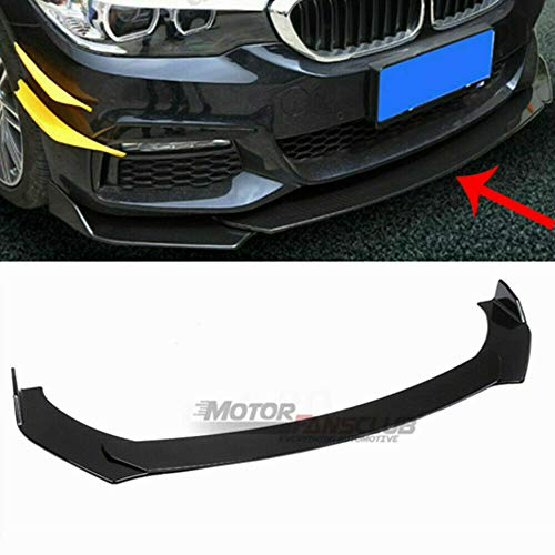 MotorFansClub Universal Front Bumper Lip Splitter fit for compatible with Honda BMW Audi Nissan Infiniti Chevrolet Ford Protection Splitter Spoiler, Black