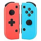 Manette pour Switch, Switch Pro sans Fil Joystick Bluetooth Contrôleur Gamepad , Remplacement pour Switch - Rouge (L) et Bleu (R)