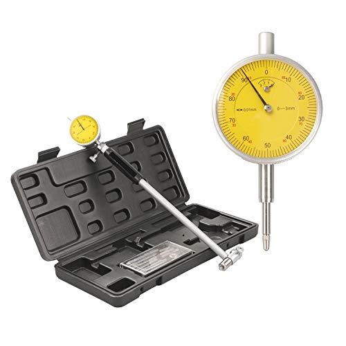 Calibre de calibre de 0.5 pulgadas, calibre 50-160 mm (rango de 2 a 6 pulgadas), herramientas de calibre de esfera con yunques de carburo profundidad del orificio del motor de medición