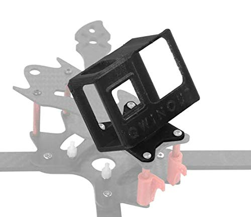 QWinOut 3D Print TPU Camera Mount 20 Degree 3D Printed Camera Holder 3D Printing Protective Cover for Gopro Hero 8 OWL260 Frame DIY RC Drone FPV Racer (Black)