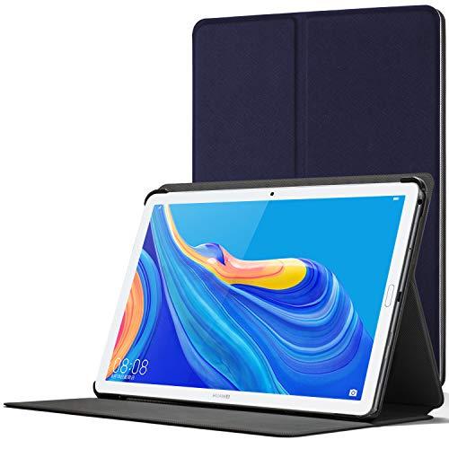 Forefront Cases Smart Funda para Huawei Mediapad M6 10.8, Estuche Protector con Cierre Magnético para Mediapad M6 10.8 2019, Smart Auto Sueño Estela Función Caso, Azul Marino