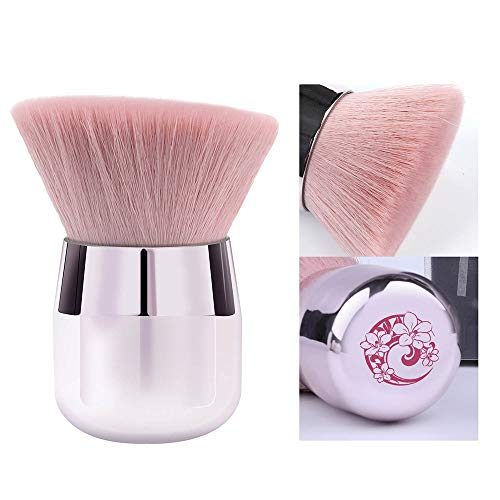 ENERGY Kabuki Powder Foundation Brush Portable Powder Brush Angled Large Face Blush BrushPinkAngled