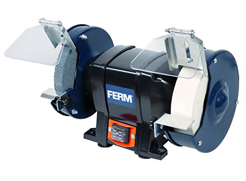 FERM Molatrice da banco 250W 150mm - Include 2 mole