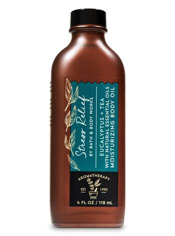 Bath and Body Works Aromatherapy Stress Relief EUCALYPTUS TEA Moisturizing Body Oil 4 fl oz
