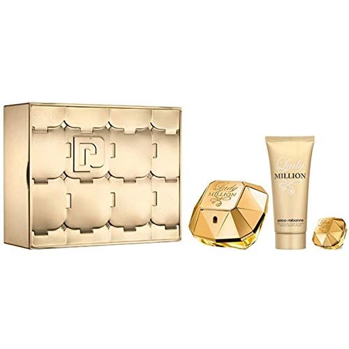 Paco Rabanne Lady Million Set Woman Edp 80Ml+B/L 100Ml+Edp Mini Limited Edition 2018, 1er Pack(1 x 185 milliliters)