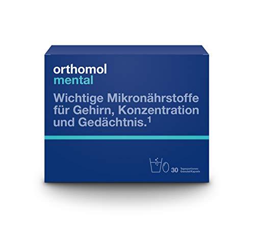 Orthomol mental 30er Granulat & Kapseln - Mikronährstoffe zur Unterstützung von Konzentration, Gehirn & Gedächtnis