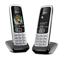 Gigaset C430HX Duo - 2 téléphones IP sans fil (pour le raccordement aux routeurs ou aux stations de base - combinés classiques avec écran couleur et voix HD) noir-argenté