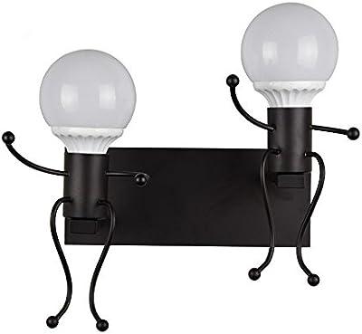 SUHAGN wall lamp Applique murale élégante et charmante pour chambre d'enfant ou chambre à coucher - Lampe frontale miroir - Blanc